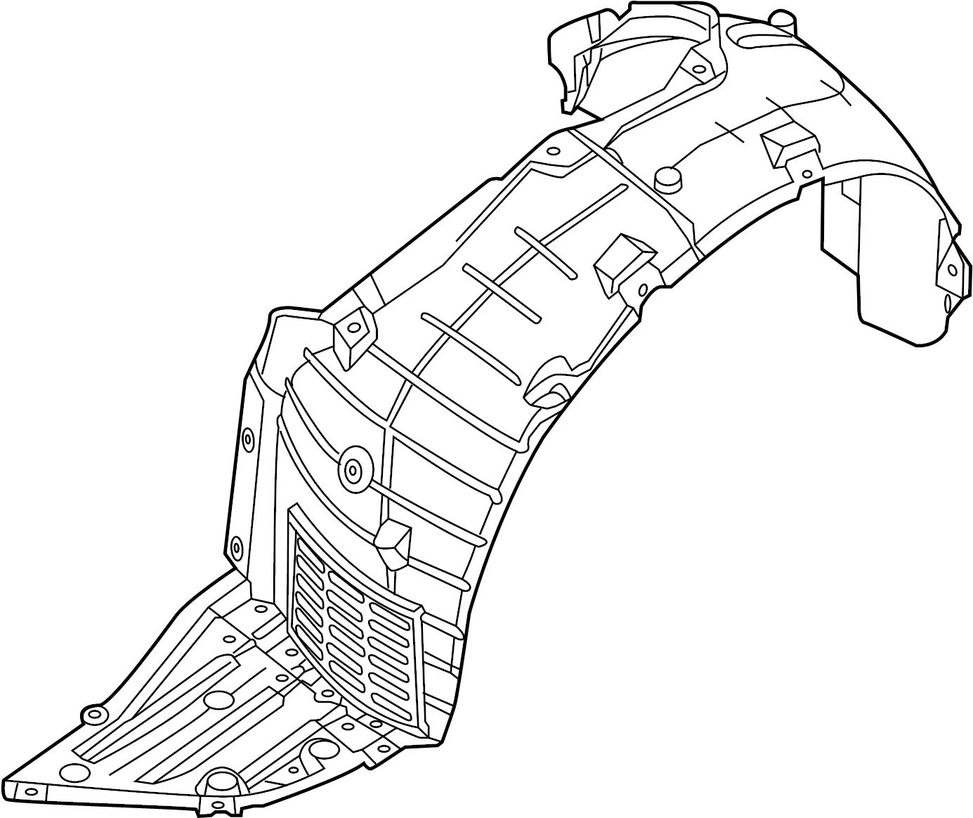 Nissan Altima Fender Splash Shield  Left  Front