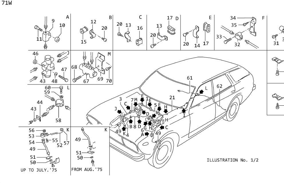 Datsun 710w Tube  Brake Indicator Switch To   Rear