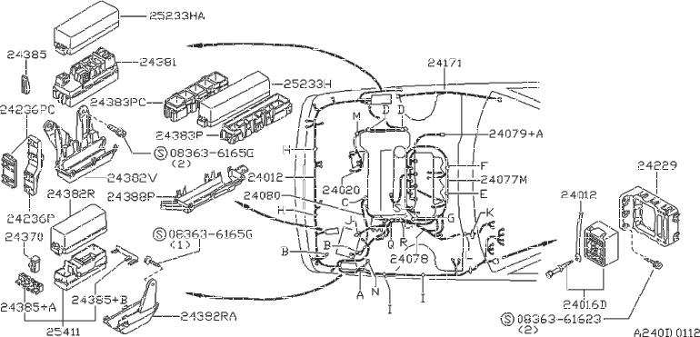 Nissan Sentra Wire Fusible Link  Fitting  Fed  Cal