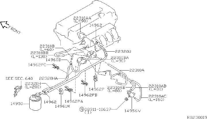 Nissan Pathfinder Service File Hose Vacuum Control B ...