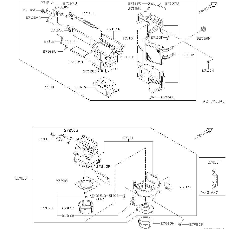 Nissan Sentra Hvac Air Adjustment Control Motor  Unit  Blower  Heater