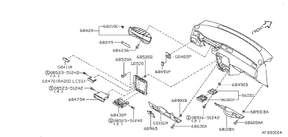 Nissan Sentra Instrument Panel Pocket  Stereo