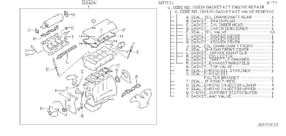 Nissan Sentra Engine Gasket Set  Kit