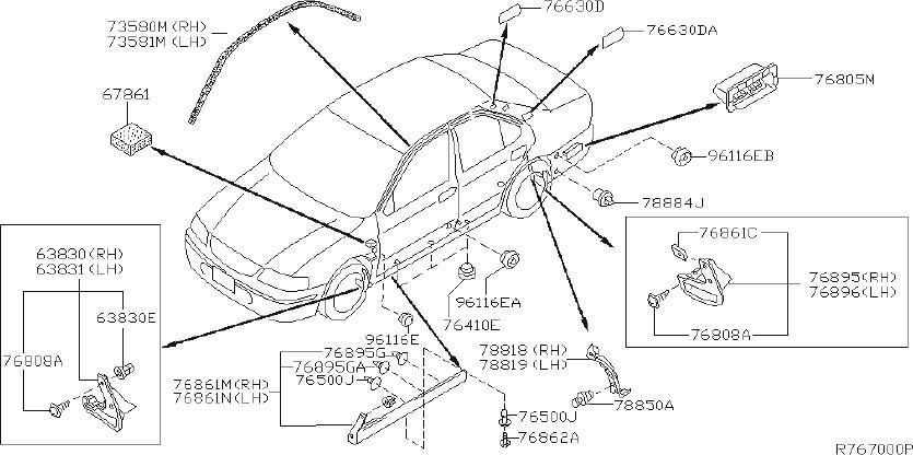 Nissan Sentra Rocker Panel Guard  Right   Body