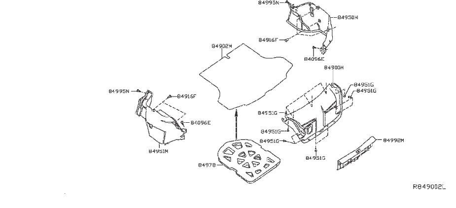 Nissan Sentra Trunk Trim Panel Clip