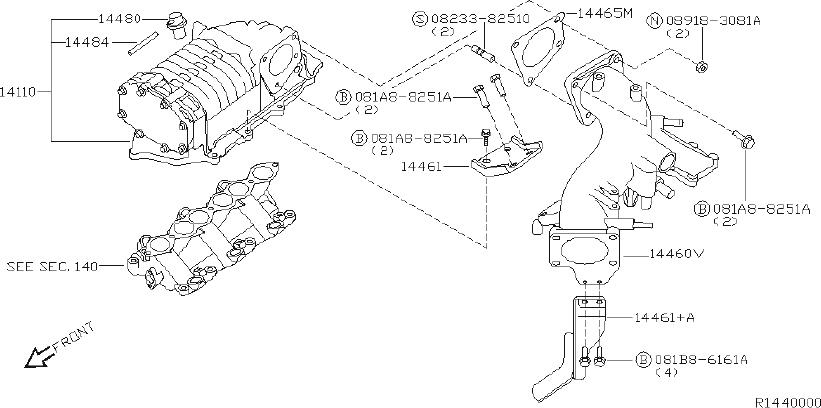 Nissan Frontier Vacuum Hose  Turbo  Charger