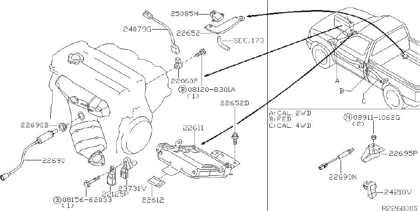 Nissan Frontier Ignition Knock  Detonation  Sensor