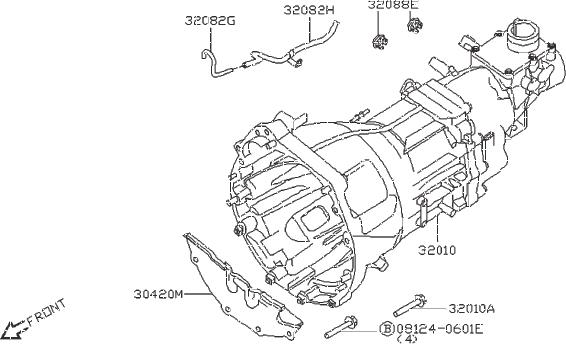 Nissan Frontier Manual Transmission  Fitting  Assy