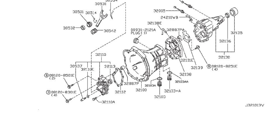 Nissan Frontier Manual Transmission Extension Housing Seal