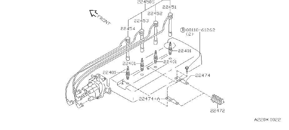 nissan altima spark plug wire set  system