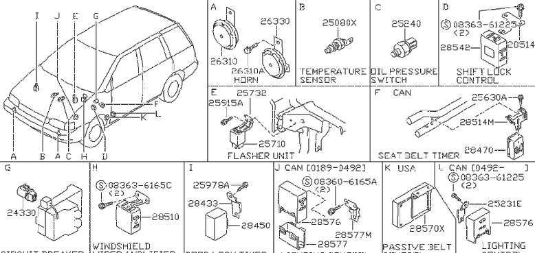 Nissan Axxess Engine Coolant Temperature Sender  Others