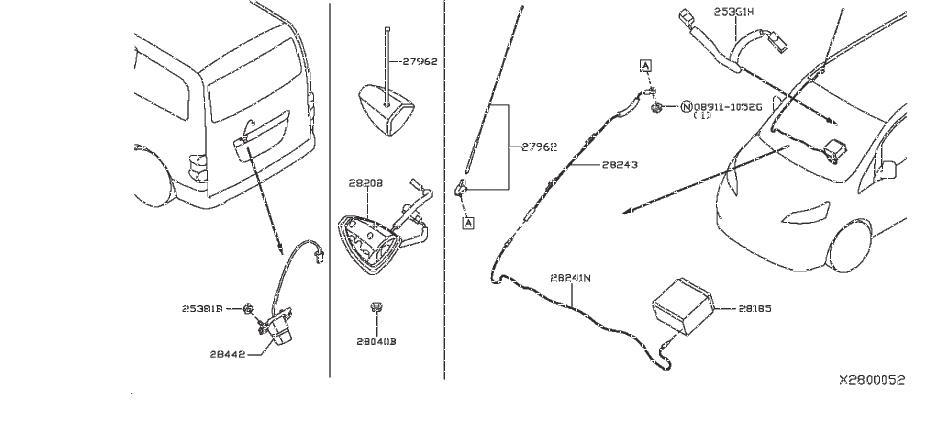 Nissan Nv200 Radio Wiring Harness  Audio  Antenna  Unit