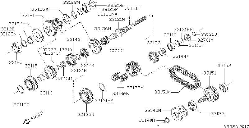 Nissan Pathfinder Gear Drive  Speedometer