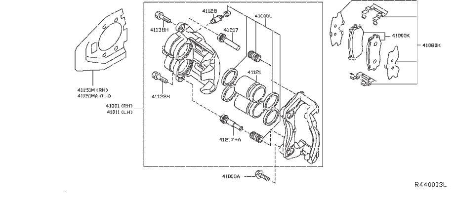 Nissan Pathfinder Disc Brake Caliper Pin