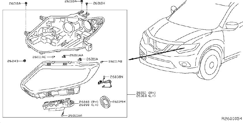 Nissan Rogue Headlight Wiring Harness