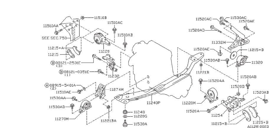 Nissan Altima Engine Mount  Front