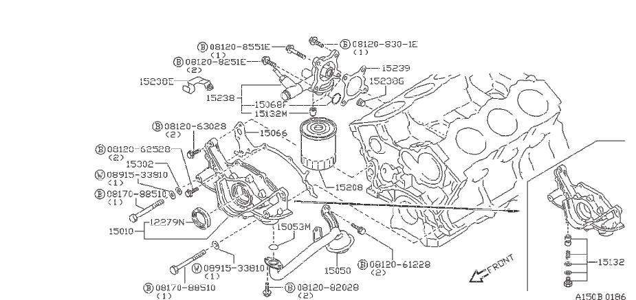 Nissan 300ZX Engine Oil Pump Pickup Tube Gasket - 15053 ...