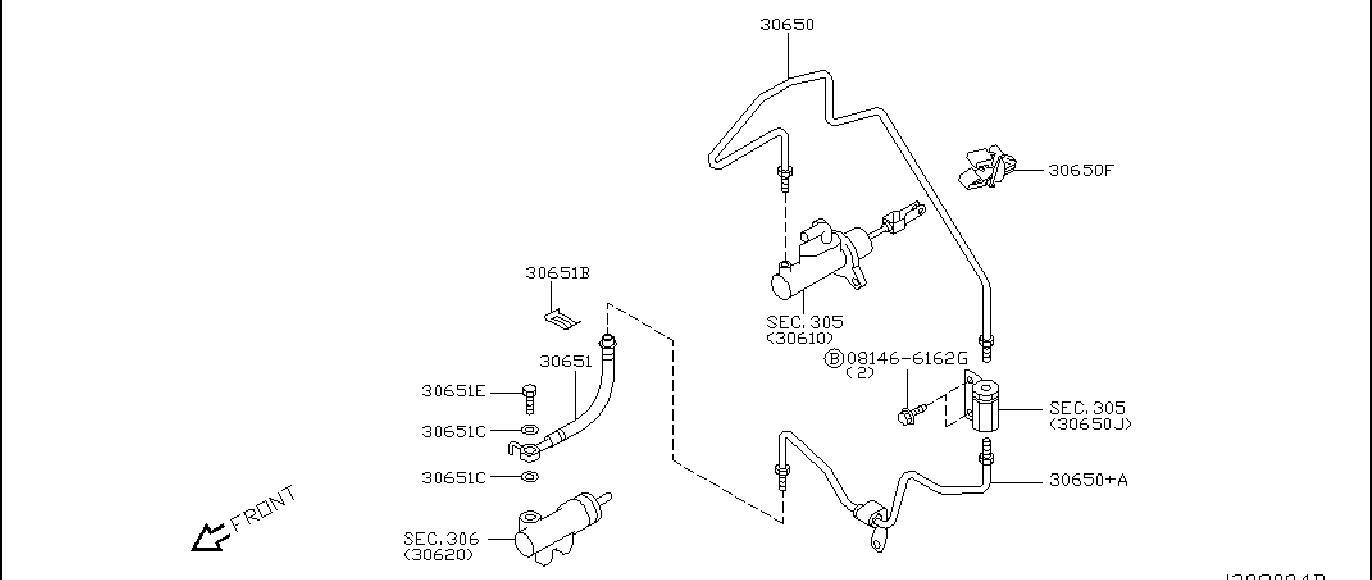 Nissan 350z Bracket Clutch Hose  Piping