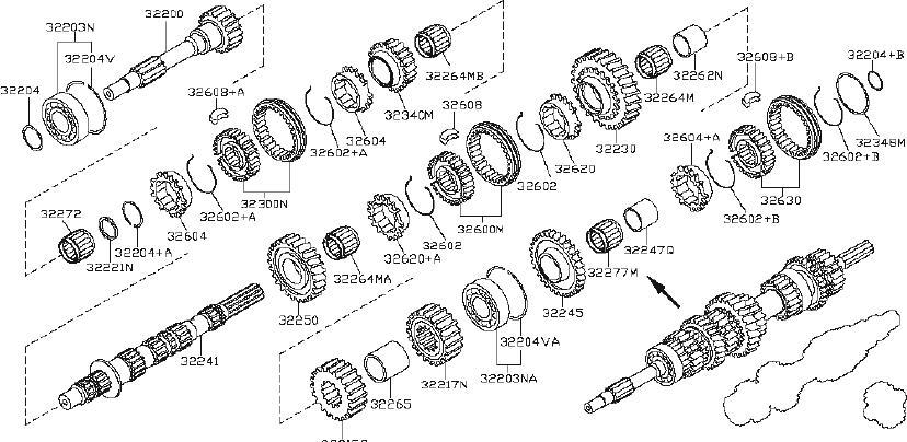 Nissan Frontier Ring Snap  Shaft  Transmission
